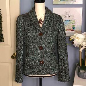 J.Jill brown/green tweed blazer